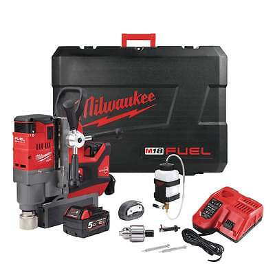 Milwaukee M18FMDP-502C 18v Mag Drill With Permanent Magnet 2 X M18b5 Batteries