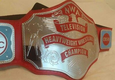 Nwa Television Heavyweight Wrestling Championship Replica Belt 4Mm Brass Plates!