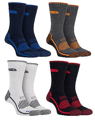 Storm Bloc - 2 Pack Mens Cushioned Heavy Duty Cotton Hiking Work Boot Crew Socks