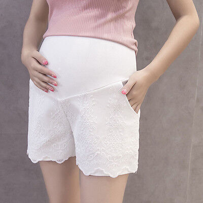 Newly Maternity Shorts Delicate Pregnant Women Belly Support Summer Loose Pants