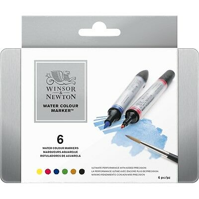 Winsor and Newton Professional Watercolour Markers  Set of 6
