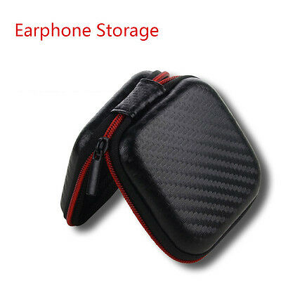 Zipped Carrying Holder Earphone Storage Waterproof Hard Case Headset Pouch Bag