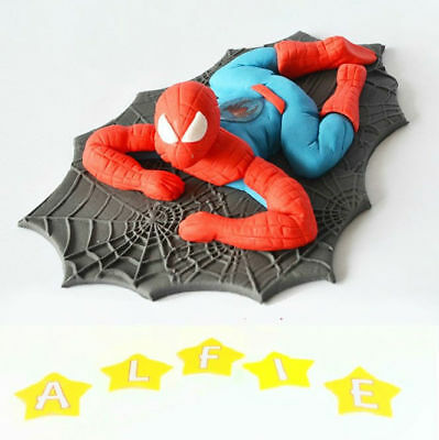 spiderman cake toppers edible decoration personalised birthday unofficial