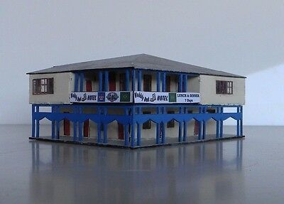 WOBBLY BOOT PUB Country Hotel w-Verandas N 1/160 scale Laser cut Wood kit