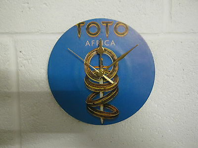 "Toto ""Africa"" Special Unique 7"" Record Sleeve Wall Clock Gift"