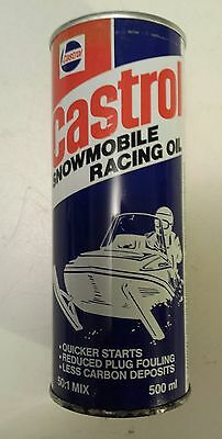 "Rare Canadian(Toronto) Castrol Snowmobile Racing Oil"" 500 Ml Empty Oil Can- Nice"