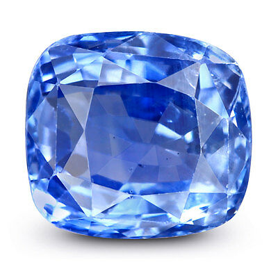100%natural Unheated Cushion Cut 3.12Cts. Splendid Blue Ceylon Sapphire Gemstone