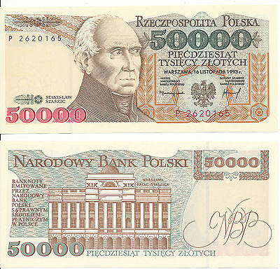 POLAND / POLAND - 50000 Zlotych 1993 UNCIRCULATED - Pick 159