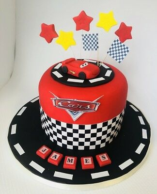 MCQUEEN CAR cake toppers edible decoration personalised birthday unofficia sweet