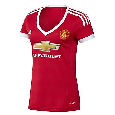 Adidas Womens MUFC H JHY W Manchester United Football Home Shirt Jersey Top