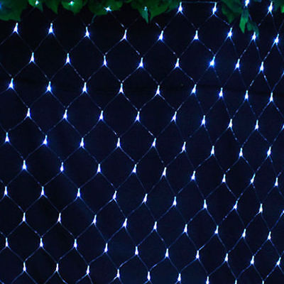 3M*2M Fairy String Net Lights Curtain Mesh 200 LED Xmas Lamp 8 Modes White Light