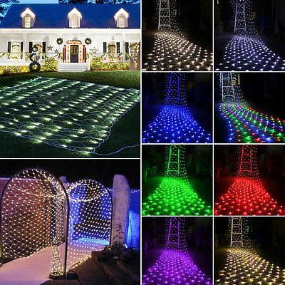 3M*2M Fairy String Net Lights Curtain Mesh 200 LEDs Xmas Lamp 8 Modes