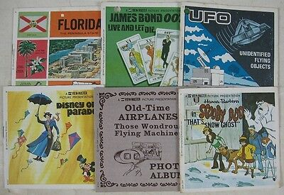 6 Vintage View-Master Booklets Only Scooby Doo Airplanes Disney UFO 007 Bond