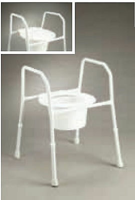Care Quip Removable Overtoilet seat With Lid Non-slip Powder coated steel Height