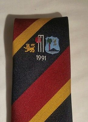 ENGLAND v WEST INDIES 1991 Official TCCB / Cornhill Insurance Cricket Tour Tie