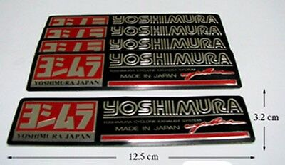 5x Yoshimura Cyclone Exhaust System Japan Decal Sticker Red