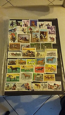 43 timbres Chevaux (lot3)