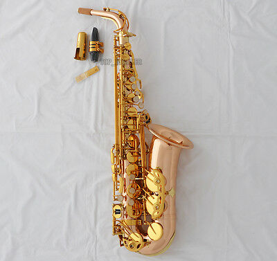 Customized 54 Alto Saxophone Professional Rose Brass Eb Sax With Case
