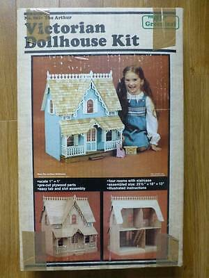 Unmade Greenleaf Victorian Doll House Plywood Diy Kit-Arthur-8012-Complete