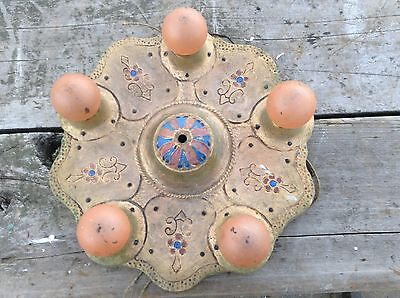 Cephas B. Rogers Art Deco Era Victorian Cast Metal Flush Mount Chandelier