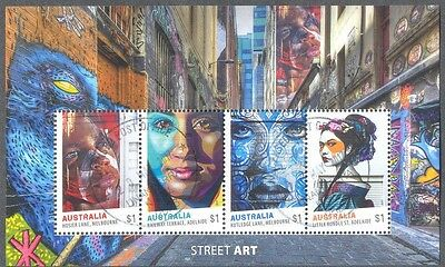Australia-Street Art May 2017fine used cto  min sheet