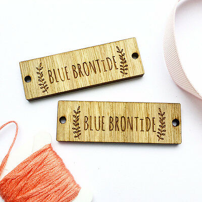 Sew on Wooden tags Custom Clothing Labels Wooden Tags Wooden Labels 01BS