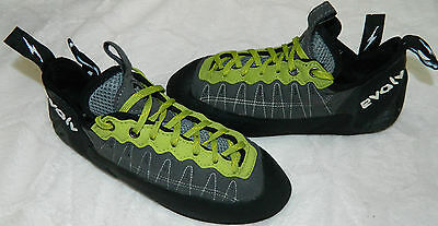 EVOLV Rock CLIMBING SHOES Mens 42 US 9 GREEN BLACK Caving Outdoors   r