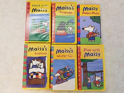 "Maisy Mouse 6 Assorted Children""s VHS Tapes"