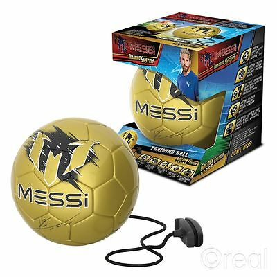 New Gold Edition Lionel Messi Training Ball Football Soccer Game Official