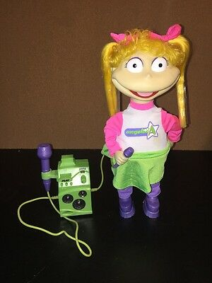 Rugrats Angelica Karaoke Sing & Dance Doll With Microphone EUC Nickelodeon