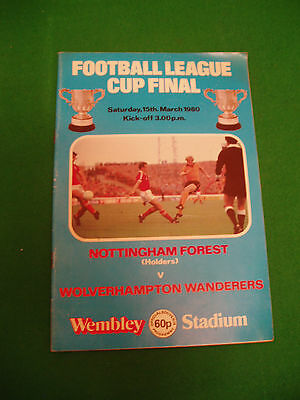 Nottingham Forest V Wolerhampton Wanderers - League Cup Final - 15Th March 1980