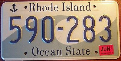 2013 Authentic Rhode Island Ocean State Graphic License Plate Auto Tag Big Wave