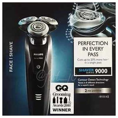 Philips S9111/43 Wet & Dry Shaver with Trimmer and Cleansing Brush Series 9000
