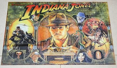 INDIANA JONES PANNELLO FRONTALE FLIPPER PINBALL Wiliams f0805 ANNI 90 PLEXIGLASS