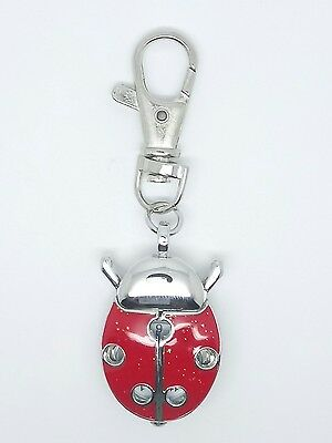 ladybird bug watch clip on novelty keyring L4