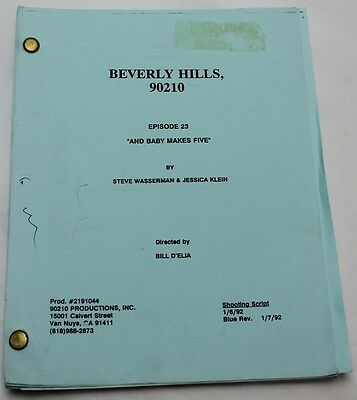 Beverly Hills, 90210 * 1992 Original TV Show Script * Season 2, Episode 22
