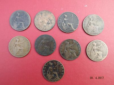 All half pennies of King Edward VII 1902 - 1910 inclusive