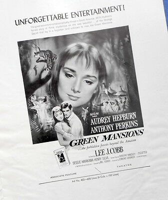 GREEN MANSIONS PRESSBOOK Audrey Hepburn Anthony Perkins 1959