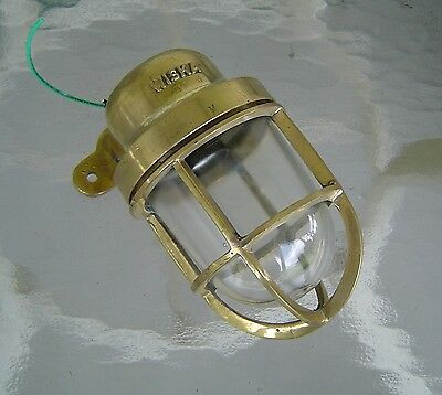 Nautical Brass Wall Mounted Passage Bulkhead Light - Rewired (Lot A)