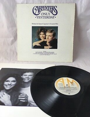 "The Carpenters Only Yesterday 12"" LP Vinyl Record Greatest Hits"