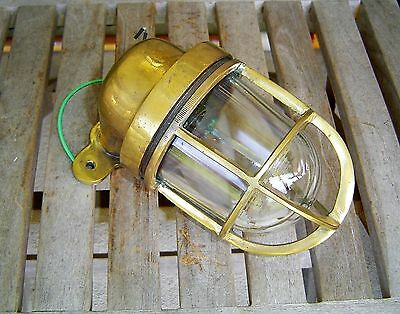 Nautical Cast Brass Wall Mounted Passage Bulkhead Light - Rewired (Lot B)