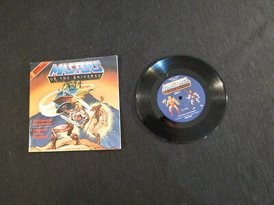 VINTAGE 1983 MASTERS OF THE UNIVERSE HE-MAN 2 Stories with Record & Book COMIC