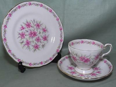 Royal Tuscan Love In A Mist Bone China Trio Tea Cup Saucer Plate Pat.822 (White)