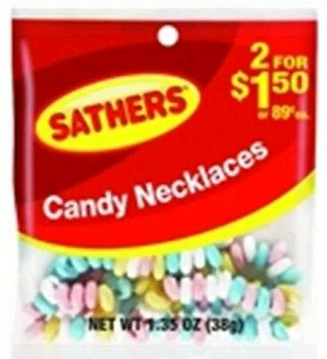 Sathers Candy Necklace 12 pack (1.35 oz per pack)