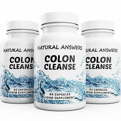 180 Colon Cleanse Capsules Fat Burner 3 Month Supply Weight Loss Diet Detox Diet
