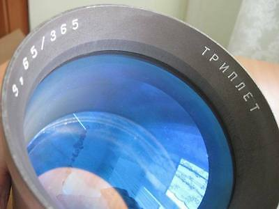 Triplet 3.65 365mm USSR Russian overhead projection Lens episcope astronomy lomo