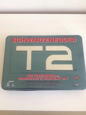 The Terminator And T2 Limited Edition Box Set VHS Video In Collectors Tin