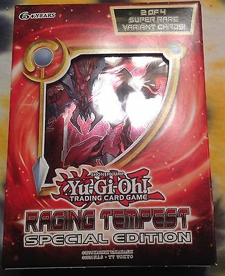 You-Gi-Oh RAGING TEMPEST Special Edition sealed box (3 packs, 2 super rares)