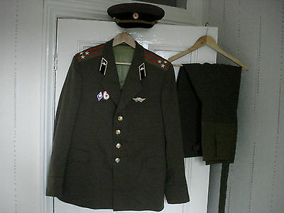 Cold War Soviet Russian Army Tanks Officer Colonel Uniform Jacket Cap Trousers