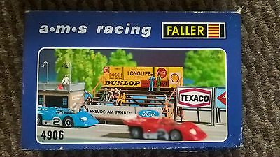Faller AMS. racing HO grandstand kit for Tomy AFX, Tyco